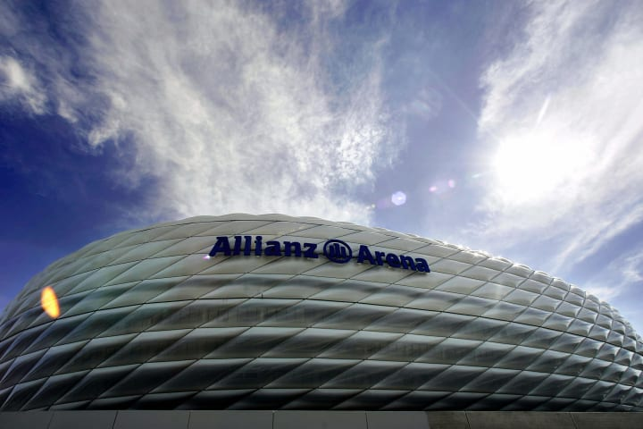 Exterior view of the new Allianz-Arena s