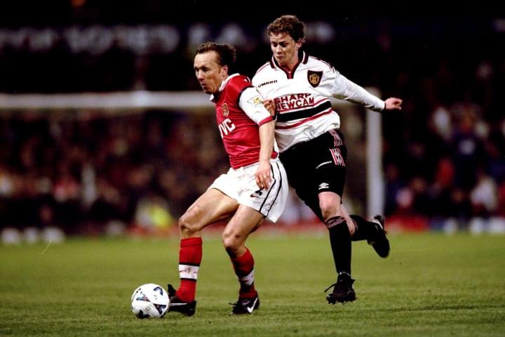 FA Cup semi-final replay Lee Dixon and Ole Gunnar Solskjaer