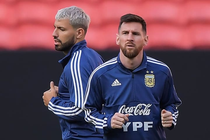 Aguero is in the shadow of Lionel Messi