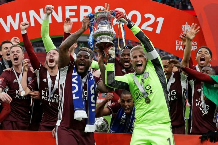 Morgan jointly lifted the FA Cup trophy this season