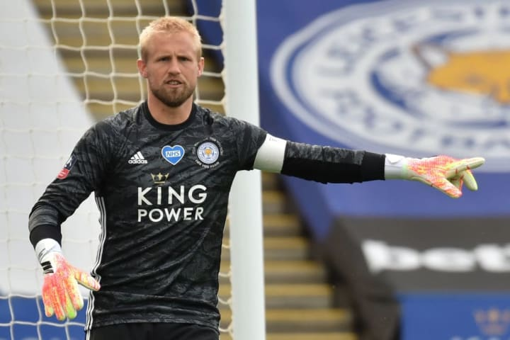 Schmeichel kept his side in the match