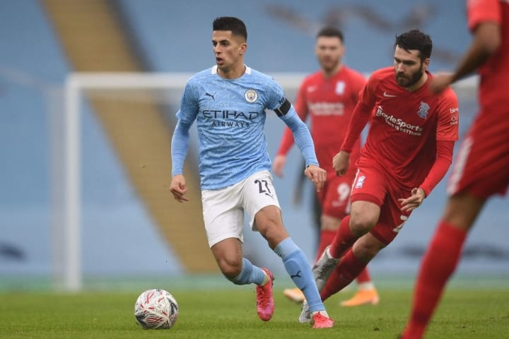 Joao Cancelo was mercifully rested for the second half against Birmingham