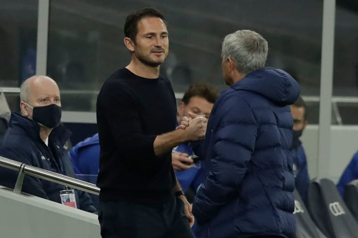 Lampard and Mourinho have faced off twice as Tottenham manager