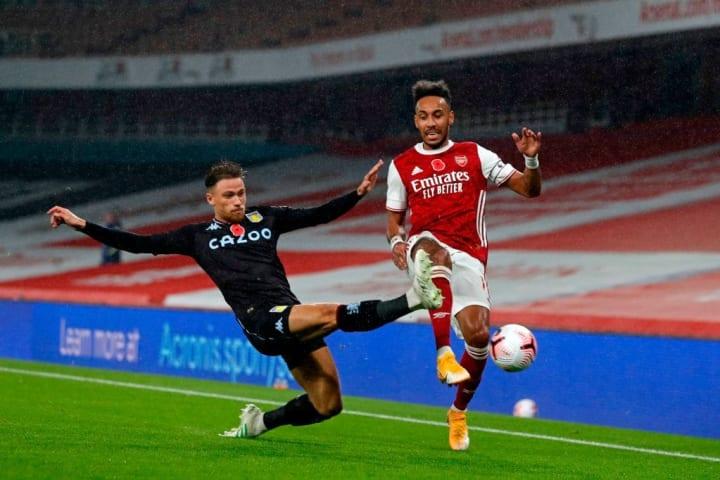Cash defended well against Aubameyang