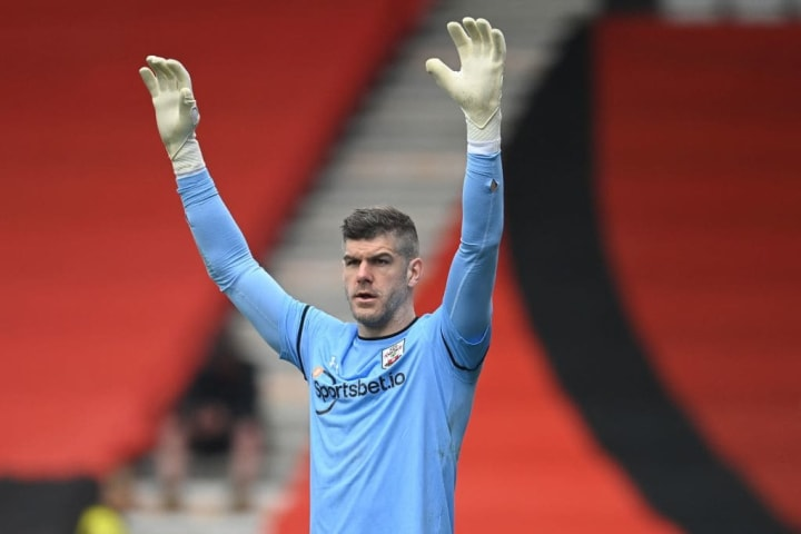 Fraser Forster was barely called into action at the Vitality Stadium