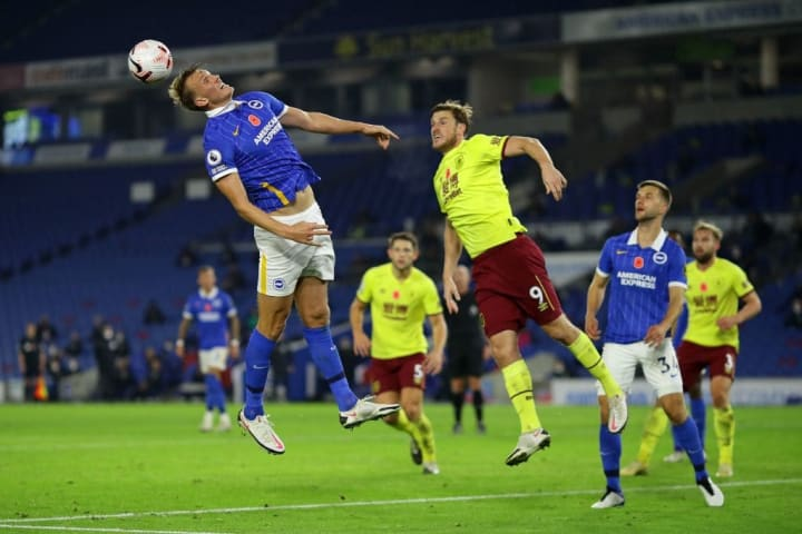 Brighton and Burnley played out a goalless stalemate last week