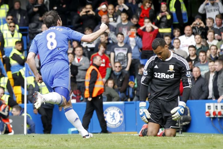 Doesn't look like Michel stopped this Lampard effort