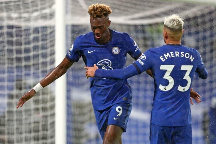 Abraham celebrates doubling Chelsea's lead