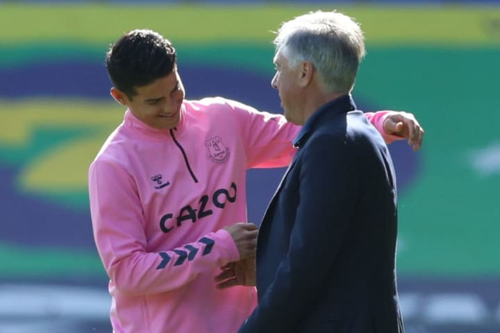 Reunited once again. Ancelotti had tried to bring James into Napoli while he was there too