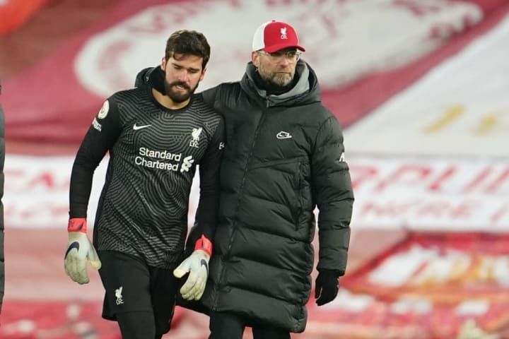 Klopp offered his support to Alisson