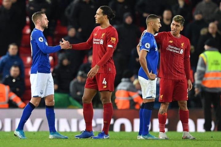Van Dijk and Richarlison the last time Everton met Liverpool