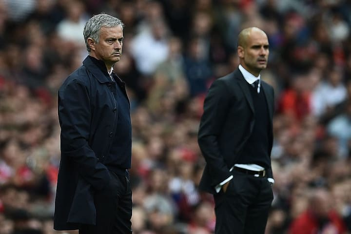 Guardiola came out on top in the first meeting since 2013 at Old Trafford