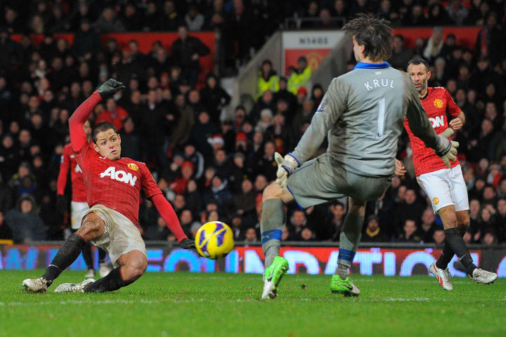 Javier Hernandez was Man Utd's match winner on Boxing Day 2012