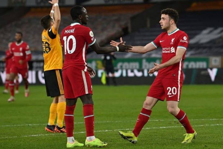 Diogo Jota and Sadio Mne combined for Liverpool's opening goal against Wolves