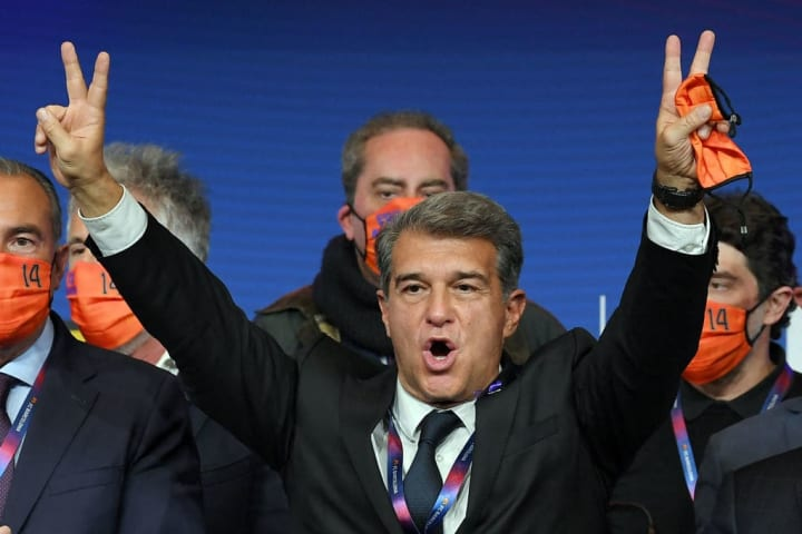 Joan Laporta was reappointed as club president last March