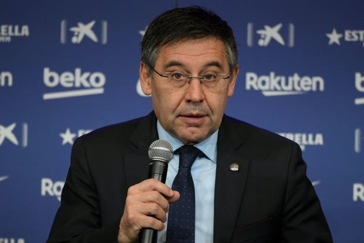 Club president Josep Maria Bartomeu has come in for criticism