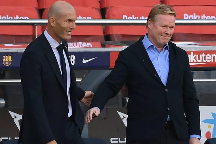 Only Ronald Koeman and Zinedine Zidane's sides remain