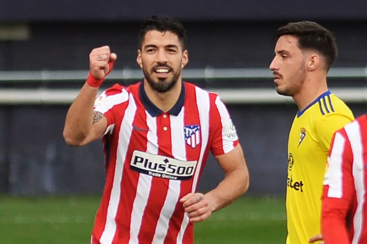 Suárez no se cansa de meter goles con el Atlético de Madrid