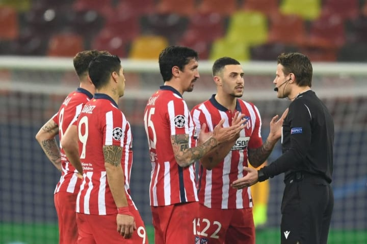 Atletico Madrid were forced to play in Budapest following Covid-19 restrictions