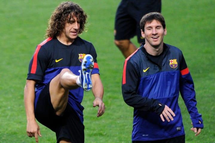 Messi Puyol Parceiro Barcelona Carreira