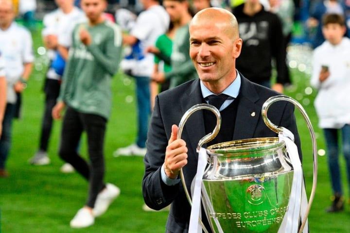 Zidane ganó tres Champions League consecutivas