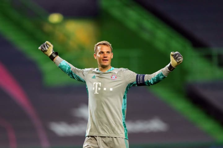 Manuel Neuer saved all three of the shots that came his way in the 2020 Champions League final