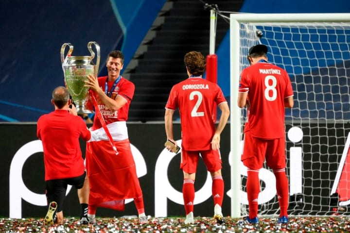 Bayern Munich lifted their sixth Champions League trophy