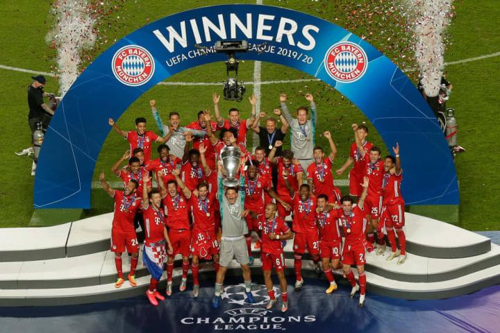 Bayern won the treble