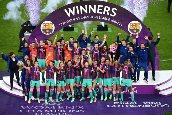 Barcelona lifted the trophy two years after their own Champions League final embarrassment