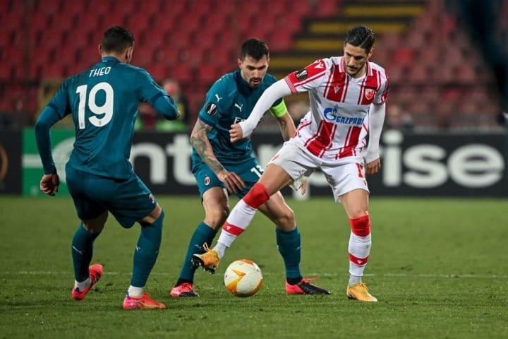 Romagnoli gave away a penalty on Thursday night