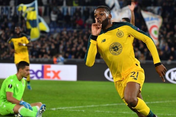 Ntcham celebrates his famous strike at Lazio