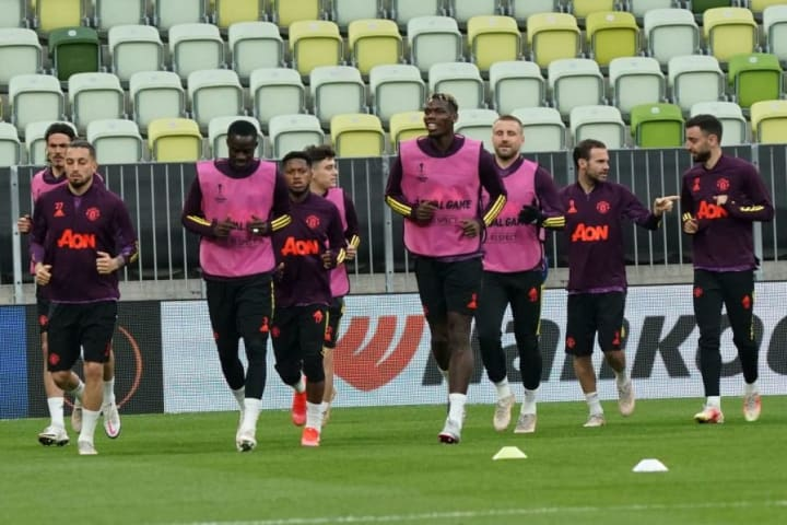 Man Utd trained in Gdansk on Tuesday evening