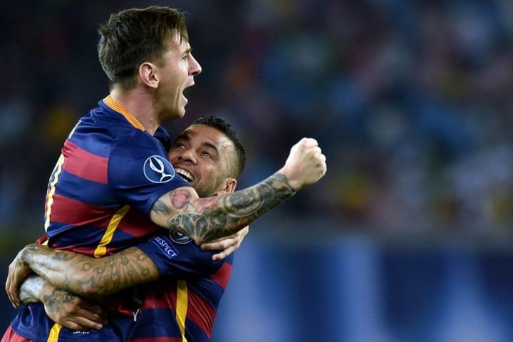 Lionel Messi Daniel Alves Parceiro Carreira Barcelona