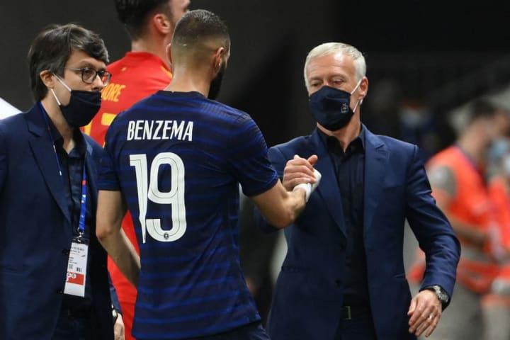 Karim Benzema, Didier Deschamps