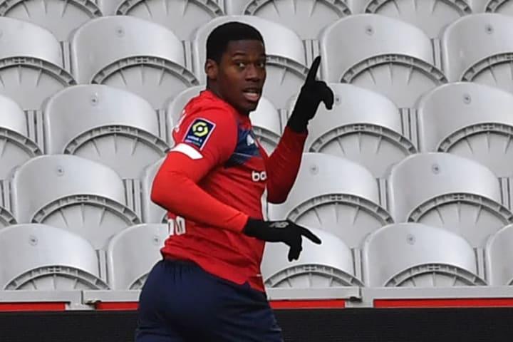 David esulta dopo il gol al Monaco