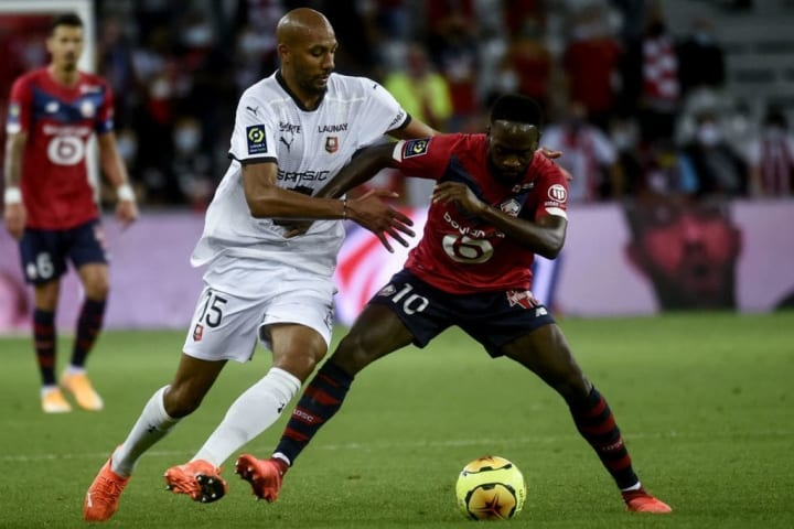 Ikone started Lille's opening game of the 2020/21 season against Rennes on Saturday night