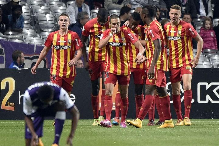 Le RC Lens lors de la saison 2014-2015, sa dernière en Ligue 1