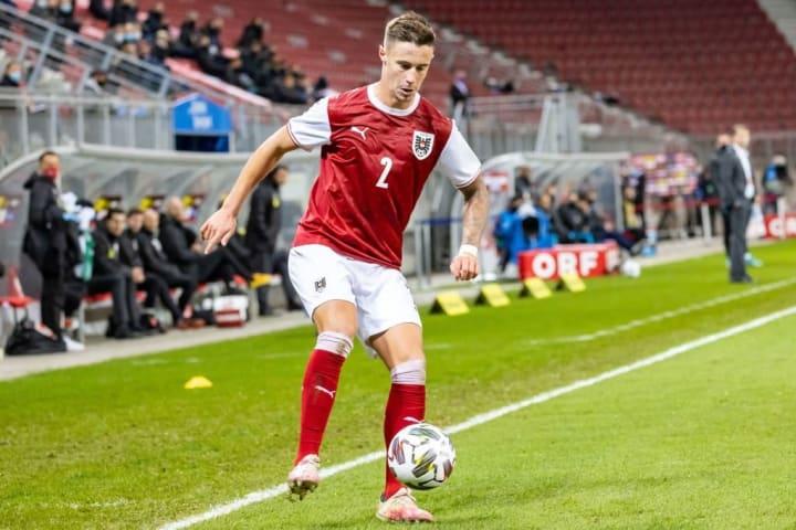 Marco Friedl bei seinem Debüt für die österreichische A-Nationalmannschaft