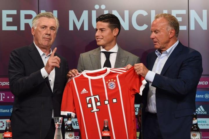 Ancelotti has already signed Rodriguez twice
