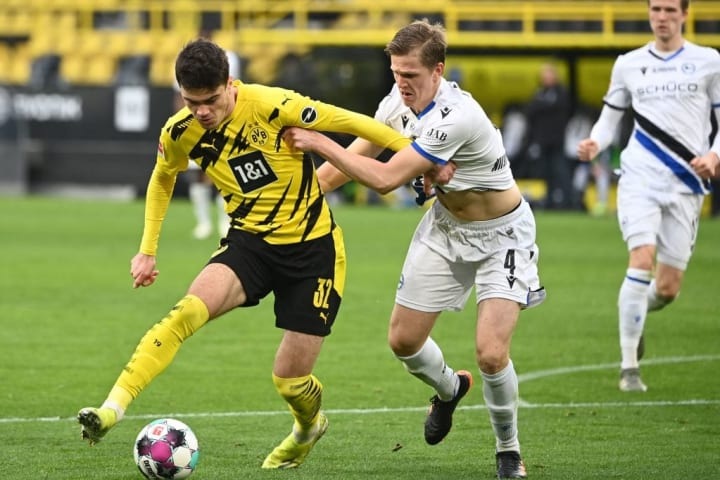 Giovanni Reyna came off the bench as Dortmund beat Hertha