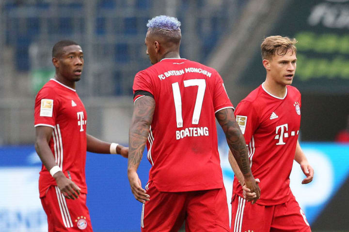 Jérôme Boateng and Bayern's defence endured a testing afternoon against Hoffenheim