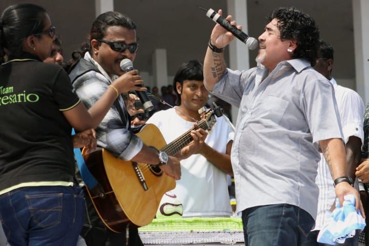 Maradona had his fair share of eccentricities