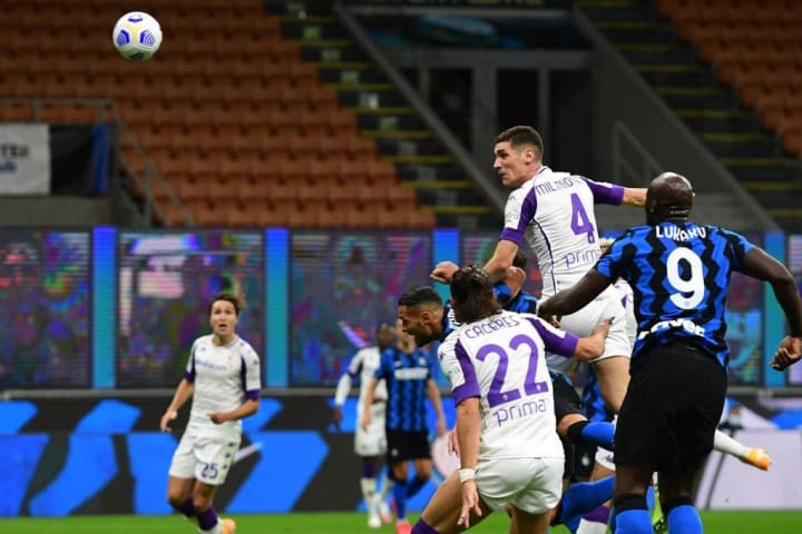 Milenkovic has scored on eight occasions for Fiorentina
