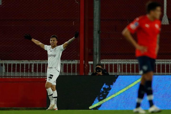 Kaio Jorge Santos Sul-Americana Independiente Gol Vaga