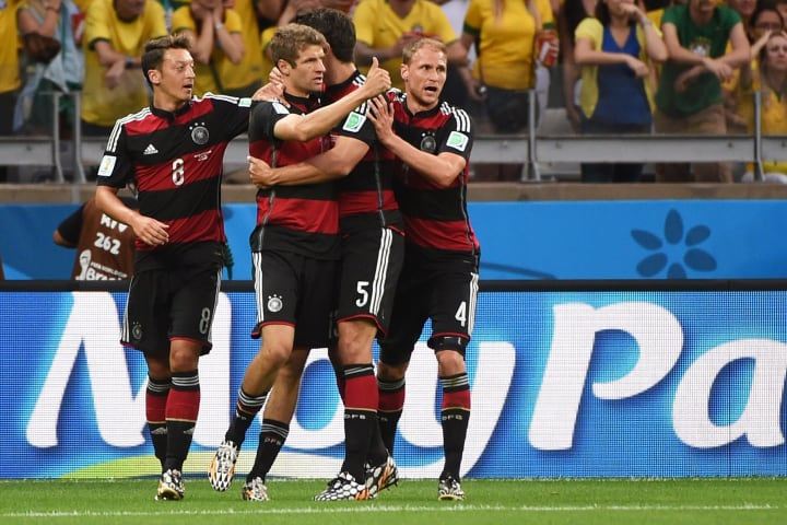 Germany were 5-0 up at half-time