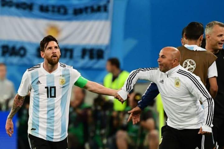 Lionel Messi et Jorge Sampaoli ont eu une relation compliquée.
