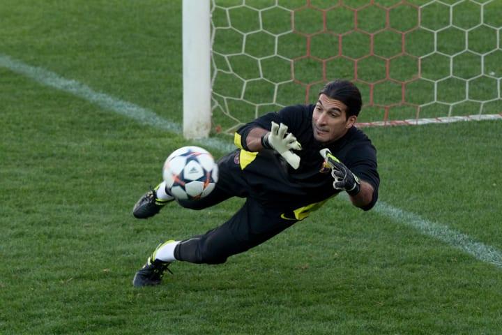 Pinto was originally a defensive midfielder
