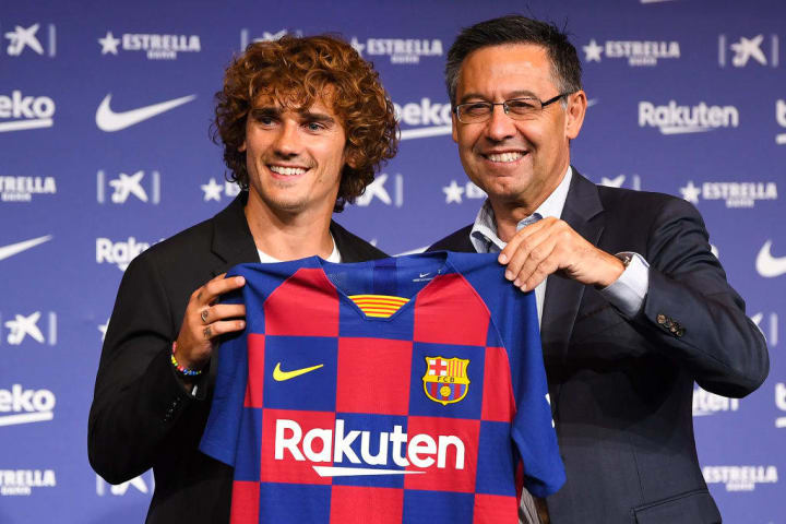 Antoine Griezmann is unveiled as a Barcelona player