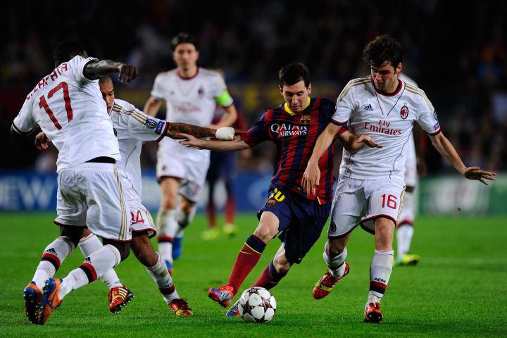 Andrea Poli, Lionel Messi, Cristian Zapata, Nigel de Jong