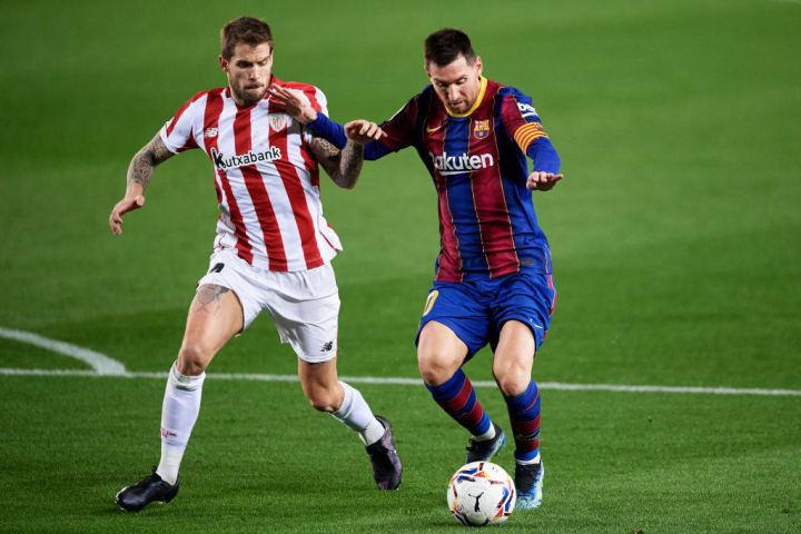 Lionel Messi Inigo Martinez Barcelona Athletic Bilbao Copa do Rei Decisão